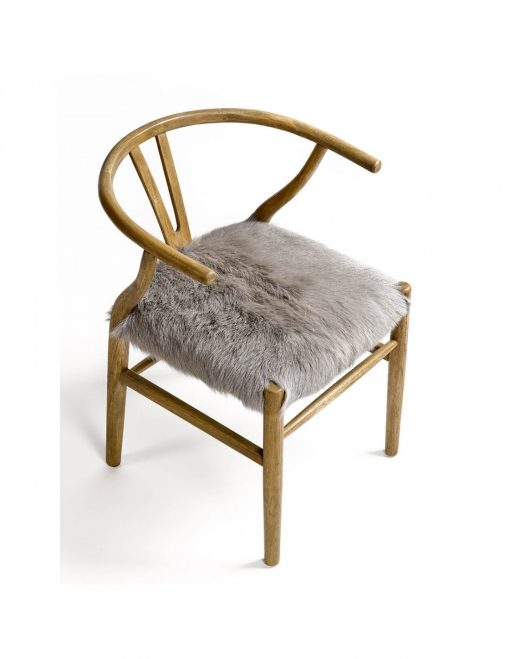 Chair Solid Wood with Fur 3
