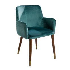 blue-velvet-armchair-wooden-leg
