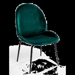 chair velvet green black