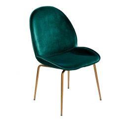chair velvet green brass