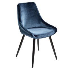 dining chair velvet blue