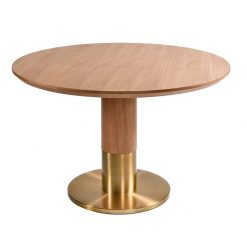 dining table round brass