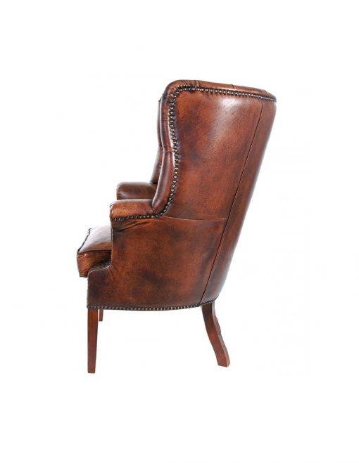 vintage churchill leather armchair 3